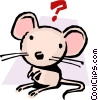 Vector Clip Art graphic  of a Cartoon mouse