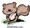 Vector Clipart picture  of a Cartoon squirrel