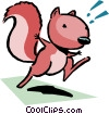 Vector Clip Art graphic  of a Cartoon squirrel