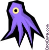 Vector Clip Art graphic  of a Octopus