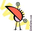 Vector Clipart graphic  of a Birds