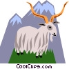 Vector Clip Art graphic  of a Mountain goats
