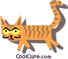Vector Clip Art graphic  of a cat