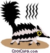 Vector Clip Art image  of a Skunks