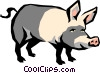 Pig Vector Clip Art graphic