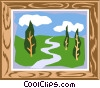Vector Clip Art image  of a Painting