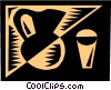 Orange juice Vector Clipart picture