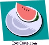 Vector Clip Art graphic  of a Watermelon