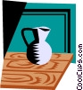 Vector Clip Art image  of a Pitcher