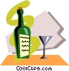 Vector Clip Art graphic  of a Wine bottle