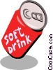 Vector Clip Art image  of a Soft drinks