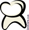 The Tooth Vector Clip Art graphic