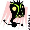 Vector Clipart image  of a Weird face