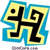 Vector Clip Art graphic  of a Wigglies