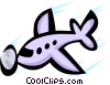 Airplane Vector Clip Art graphic