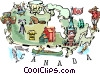 Vector Clip Art graphic  of a Canada map