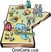 Manitoba map Vector Clipart illustration