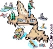Newfoundland map Vector Clipart graphic