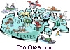 Vector Clipart graphic  of a Northwest Territories map