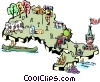 Vector Clip Art picture  of a Ontario map