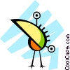 Tropical bird Vector Clipart illustration