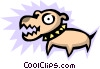 Vector Clip Art image  of a Dogs
