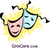 Vector Clip Art image  of a Theatrical masks