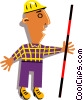 Vector Clip Art graphic  of a Workman