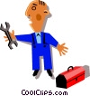 Vector Clipart graphic  of a Workman