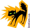 Vector Clipart graphic  of a Cats