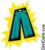 Vector Clip Art graphic  of a Pants