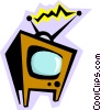 Television Vector Clip Art graphic