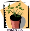 Vector Clipart graphic  of a Houseplant