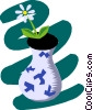 Vector Clip Art graphic  of a Houseplant