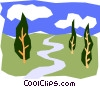 Vector Clipart graphic  of a Outdoors