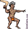 Vector Clipart illustration  of an Aborigines