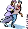 Vector Clipart image  of a Couples