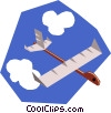 Paper airplanes Vector Clip Art picture