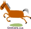 Vector Clip Art graphic  of a Horses