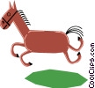 Horses Vector Clipart image