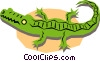 Vector Clip Art image  of an Alligators