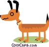 Vector Clip Art graphic  of a Dog
