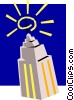 Vector Clip Art graphic  of a Skyscrapers