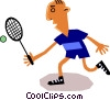 Tennis player Vector Clipart picture