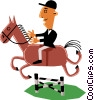 Man on horseback Vector Clipart illustration