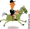 Man on horseback Vector Clipart picture