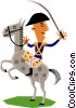 Vector Clipart illustration  of a Man on horseback