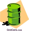 Oil drum Vector Clipart image
