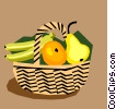 Fruit basket Vector Clipart graphic