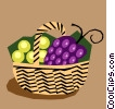 Vector Clipart illustration  of a Fruit basket